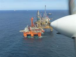Elgin platform view from research aircraft